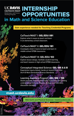 calteach mast internship flier