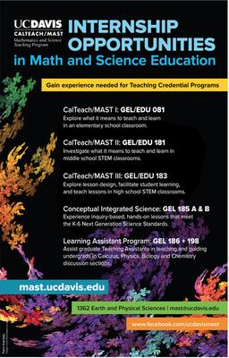 calteach mast internship flier