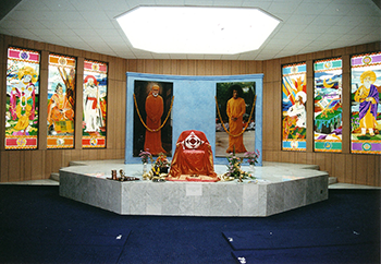 Altar at Sai Baba devotional center in Nairobi, Kenya