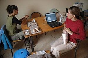 Teresa Steele in Morocco field lab