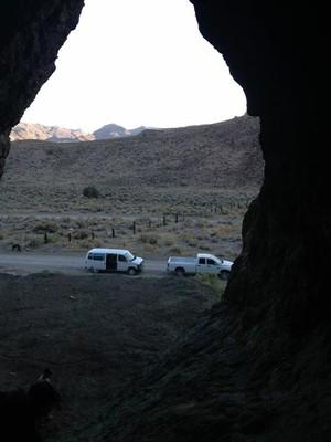 Cave Spring rockshelter, from inside.