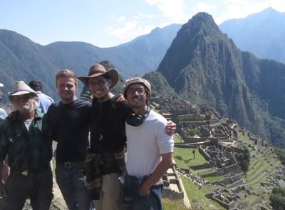 Billy, Ian, Caleb, and Greg at Machu Pichu.