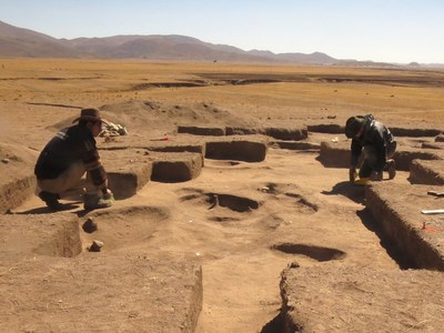 This area was covered in ancient roasting pits.