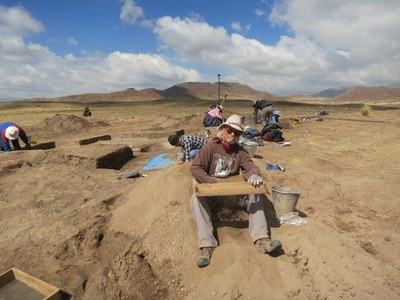 we rcovered thousands of artifacts, mostly flaked stone debitage. Billy on the screen.